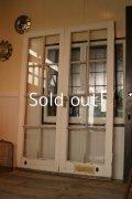 イギリス、アンティーク木製ペアドア、2枚扉