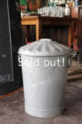 antique tin  アンティーク ブリキゴミ箱 gabagecan/rubbishbin 送料無料