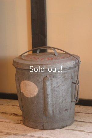 画像1: antique,イギリスアンティーク,ブリキ製ごみ箱