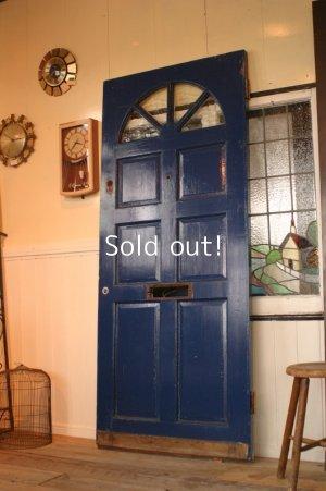 画像1: イギリス、アンティーク木製ドア、ペイントドア