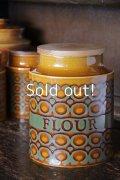 HORNSEA(ホーンジ),【BRONTE】,ブロンテ,Flour(小麦粉)キャニスターL 1970年代