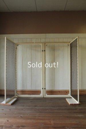 画像5: イギリス、アンティーク木製フレーム、窓枠(2枚1組)
