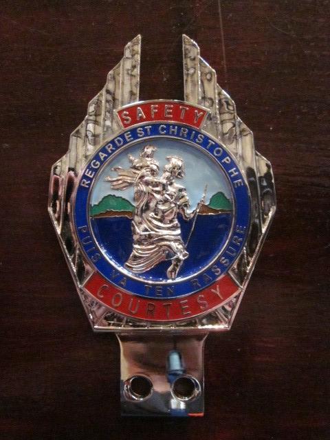Vintage St Christopher Car Badge Vehicle Parts & Accessories